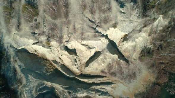 Thumbnail for Abandoned Clay Quarry with Unusual Relief. Aerial Top View