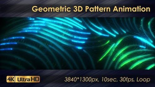 Seamless Geometric 3D Pattern Animation