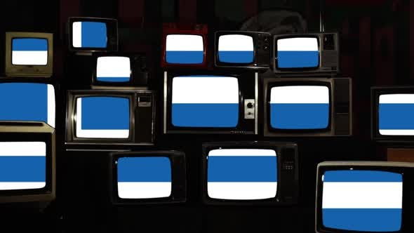 Thumbnail for Flag of Greece and Retro TVs.