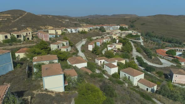 Thumbnail for Ghost Town with Empty Hotels and Villas in Limnos, Greece
