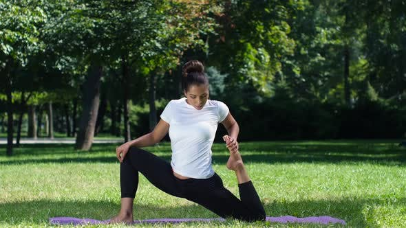 Thumbnail for Woman Doing Yoga in the Park on a Beautiful Day