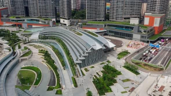 Thumbnail for Top down view of Hong Kong city