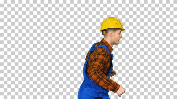 Thumbnail for Young Construction Worker in Hard Hat Dancing Hip-Hop Alpha