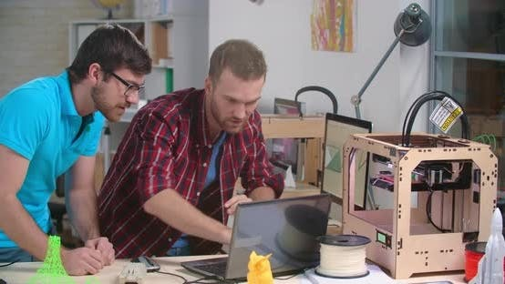 Thumbnail for Working At 3d Printing Studio