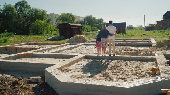 Thumbnail for The Family Is on the Foundation of Their Future Home