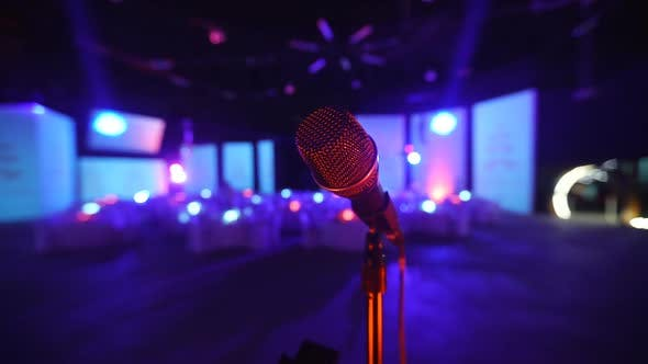 Thumbnail for Microphone on Stage at a Concert Venue 1