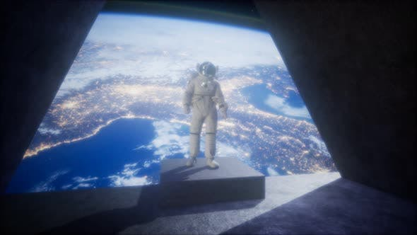 Thumbnail for Astronaut on the Space Observatory Station Near Earth