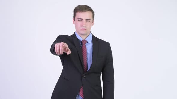 Thumbnail for Young Handsome Businessman Pointing To Camera
