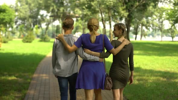 Single Mother Spending Time With Her Children, Love and Care, Family Support
