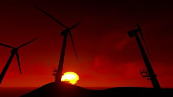 Thumbnail for Sunset Windmill