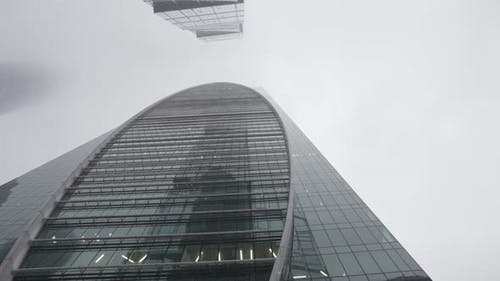 Details of city center with glass tall skyscraper