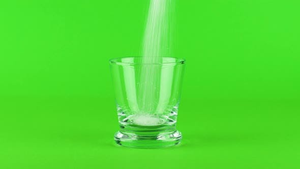 Thumbnail for Pour Sugar Shot Glass Thick Bottom Green Contrasting Background. Concept