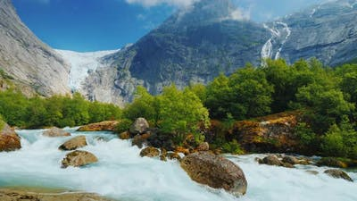 The Nature of Norway Is a Turbulent River From Melted Waters