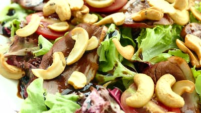 Smoked duck meat salad