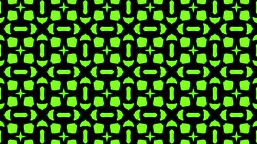 Abstract green geometric seamless pattern background