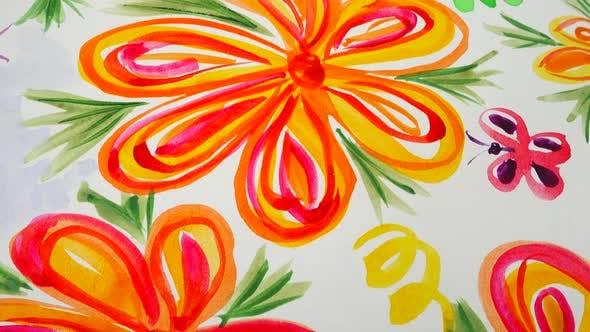 Thumbnail for Zeichnung Blume