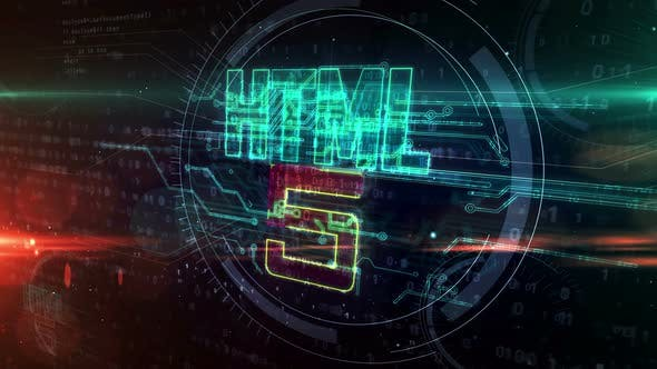 HTML5 coding symbol abstract animation