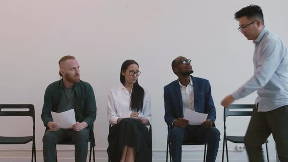 Diverse People Waiting for Interview Invitation