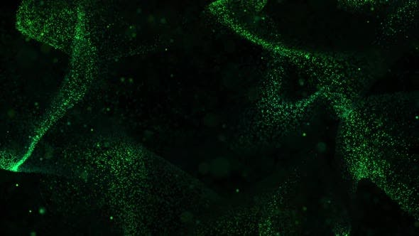 Thumbnail for Green Dynamic Particles Background Loop