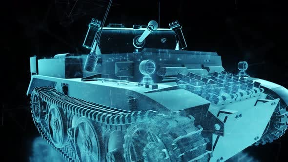 World War 2 Tank Hologram 4k