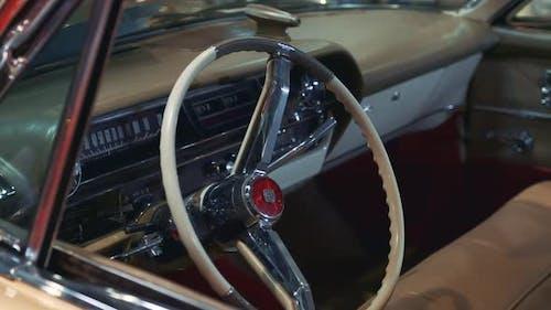 Vintage Vehicle Interior in Milk Color