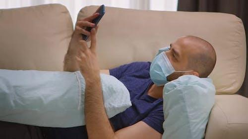 Man with Protection Mask During Coronavirus Lockdown