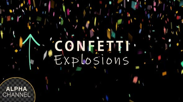 Thumbnail for Multi Colored Confetti Explosions