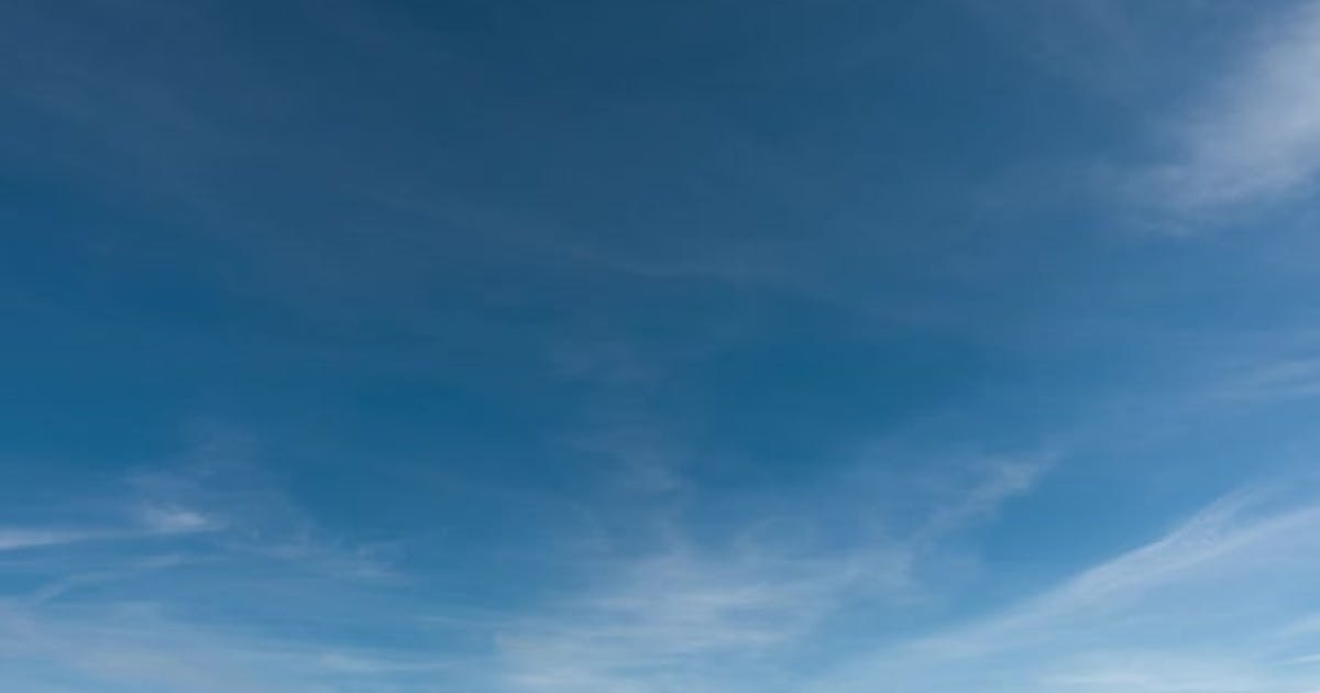 Qualitative Time Lapse of Beautiful Sky, Clouds Fly Away, No Birds.