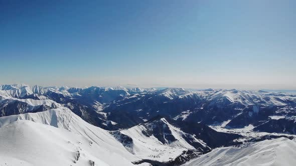 Thumbnail for Distant View of Winter Ski Resort.