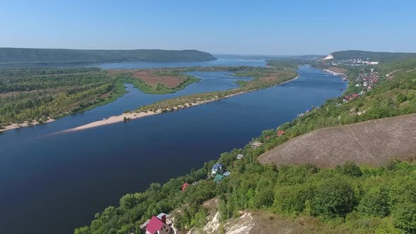 Thumbnail for Zhiguli Mountains and Volga River Near Samara