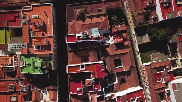 Top View on Houses in San Cristobal De La Laguna Tenerife Canary Islands Spain