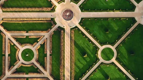 Top-Down Abstract Garden View Europe
