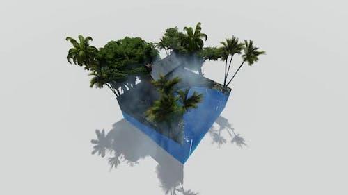 Beach realist isometric