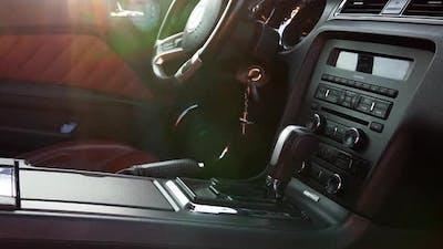 Black Ford Mustang Model Interior