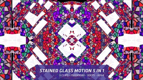 Thumbnail for Stained Glass Motion 5 in 1