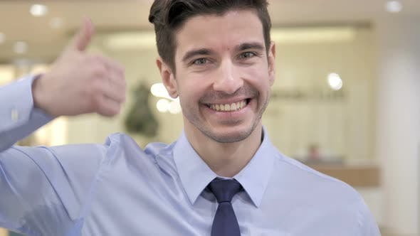 Thumbnail for Thumbs Up By Businessman
