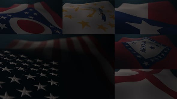 Flag of 50 States and the Flag of USA