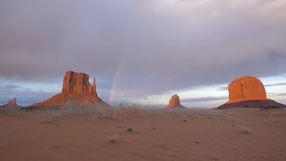 Thumbnail for Monument Valley and a rainbow