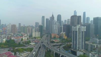 Guangzhou City and Complex Road Overpass. Guangdong, China