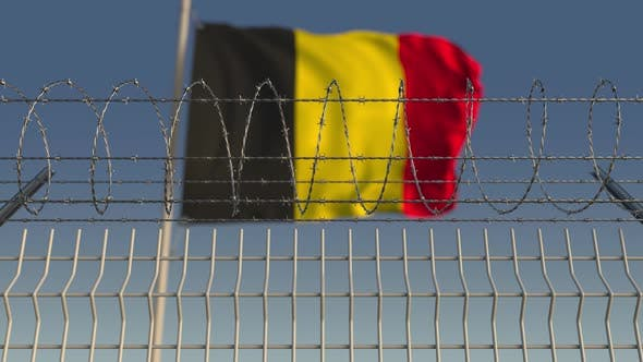 Thumbnail for Barbed Wire Against Waving Flag of Belgium