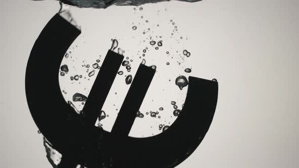 Thumbnail for Euro Symbol Falls Into Water