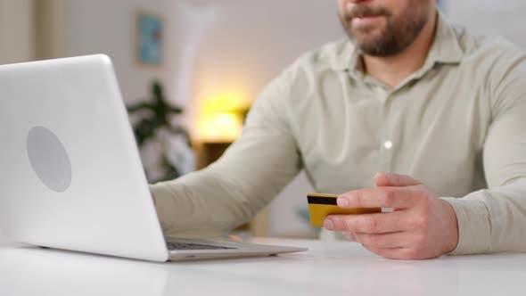 Thumbnail for Bearded Man Shopping for Goods Online