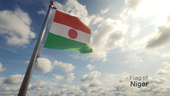 Thumbnail for Niger Flag on a Flagpole