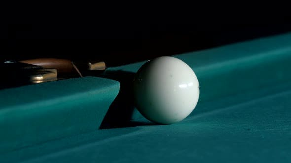 Thumbnail for White Ball Falls Into a Pocket Billiard After Impact