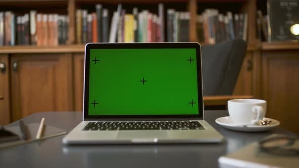 Thumbnail for Green Screen Display On Laptop Computer