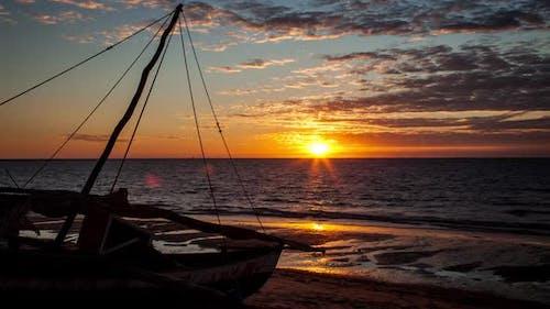 Timelapse at Sunset at Mahajanga Madagascar