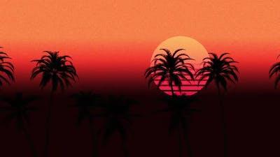 Palm Trees Retro