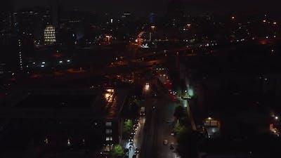 Aerial View of City Night Scene