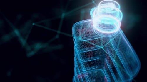 Lighter Fluid Hologram Close Up 4k