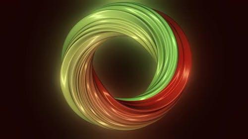 3D computer generated spinning torus